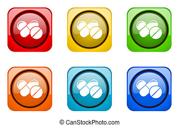 medicine colorful web icons