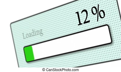 Download bar loading - Tilted download bar loading on white...