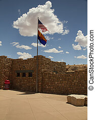 Desert Outpost - Veiw of the visitor center at the Navajo...