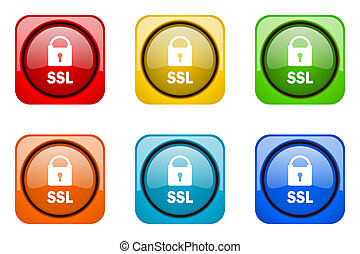 ssl colorful web icons