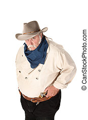 Big Tough Cowboy - Big tough cowboy with moustache and...