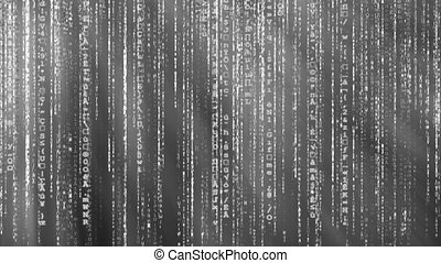 Black and white Matrix background - Black and white animated...