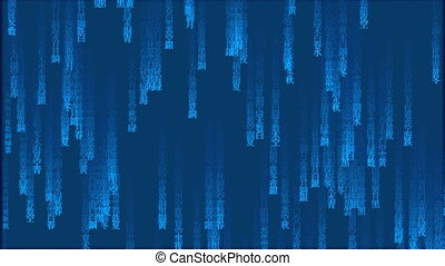 Japan Matrix background - blue Japan matrix background,...