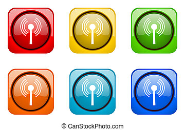 wifi colorful web icons