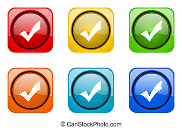 accept colorful web icons