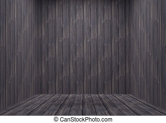 Rugged Wooden Room - Weathered Wooden Plank Room. Empty...