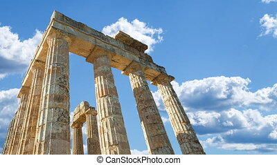 Zeus Temple Sky with clouds - Zeus Temple with marble...