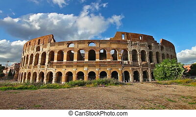 coliseum in the sun - Sunset in real time of the coliseum...