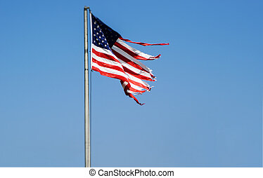 Tattered American flag - Tattered American Flag