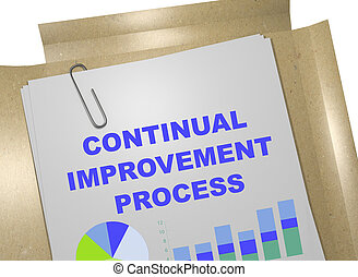 Continual Improvement Process concept - 3D illustration of...