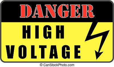 EPS Vector of Caution high voltage sign. Electrical hazard symbol ...