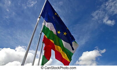 Andalusia Granada and Spain flags - Europe, Andalusia,...