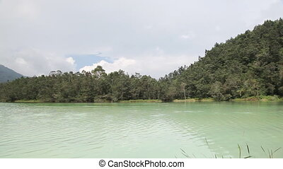 "Crater lake - Indonesia, Java , Dieng Plateau, \""Telaga..."