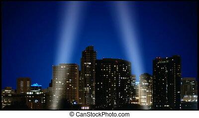 Spot light attraction - A 1080p HD video of spotlights...
