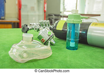 oxygen mask selective focus mask blur background