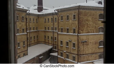 View of old prison - View of prison in winter