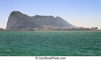 The Rock of Gibraltar, British territory, and its bay view...