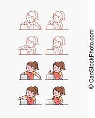 Cashier woman.eps - Illustration of cashier woman
