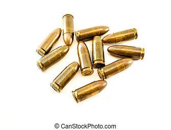 11mm bullets for a short gun 45 Automatic Colt Pistol ACP...