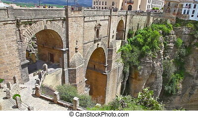 Puente Nuevo bridge of Ronda - top view from famous lookout...
