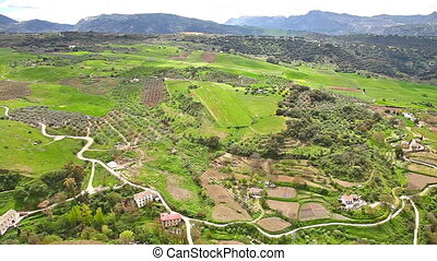 Top panorama of Ronda - Panorama view of the valley from the...
