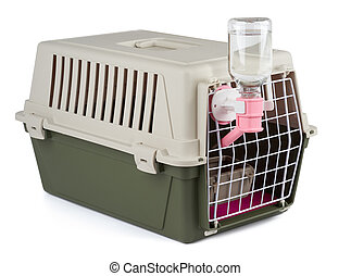 Pet carrier for tranportation - Pet carrier with feeding and...