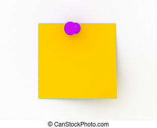 3d post-it isolated on white. office concept