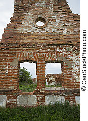 Dilapidated stud farm 19th century. The ruins of Orlov...