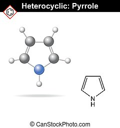 Pyrrole five-membered organic heterocycle - Pyrrole -...