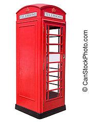 rojo, teléfono, caja