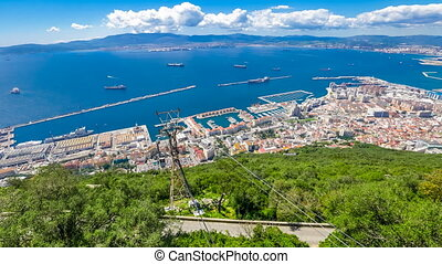 Cable car of Gibraltar - Cable car at the top of Gibraltar...