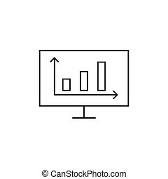 Outline diagram icon isolated on white background