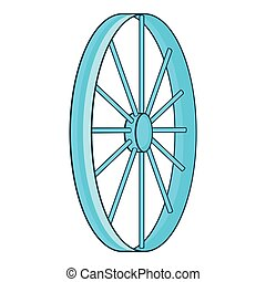 Bicycle wheel symbol icon, cartoon style - Bicycle wheel...