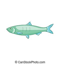 Baltic herring icon icon, cartoon style - Baltic herring...