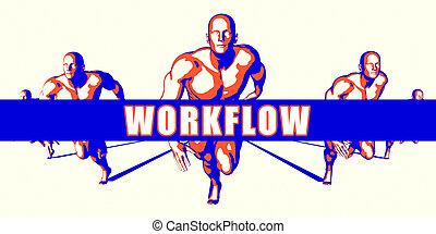 Workflow as a Competition Concept Illustration Art