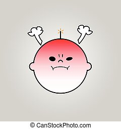 Baby angry icon