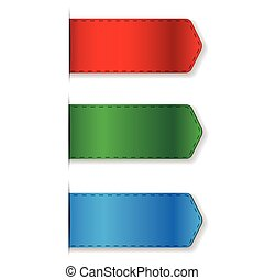 Ribbon set - bookmark vector