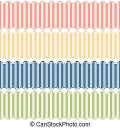 seamless lined banners - collection of four different...
