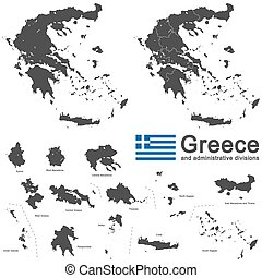 Greece and administrative divisions - european country...