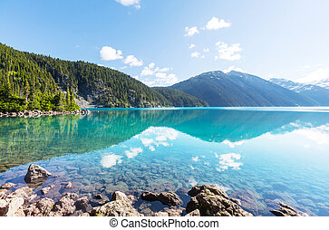 Garibaldi lake - Hike to turquoise Garibaldi Lake near...