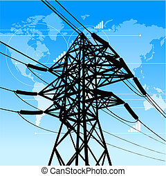 Power industry concept