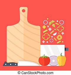 Cooking process, recipe, meal prep