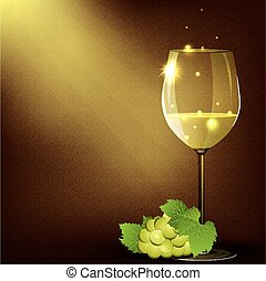 Vector illustration of wineglasses
