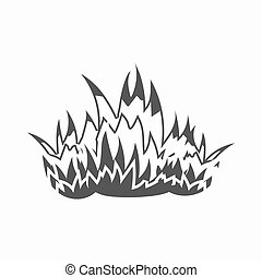 Fire icon black. Single silhouette fire equipment icon from the big fire Department simple - stock vecto - stock vecto - stock vector
