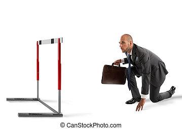 obstáculo, empresa / negocio, camino