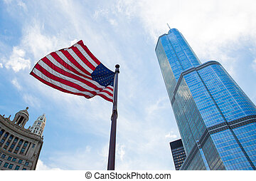 Trump Tower in Chicago - Trump Tower in downtown Chicago...