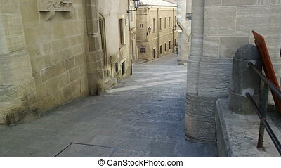 Narrow medieval street in the central part of the city...