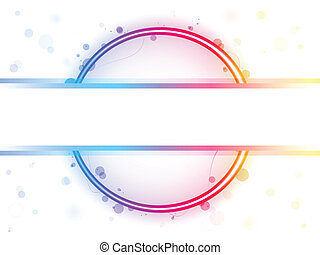 Rainbow Circle Border with Sparkles and Swirls Editable...