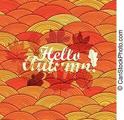Hello autumn concept