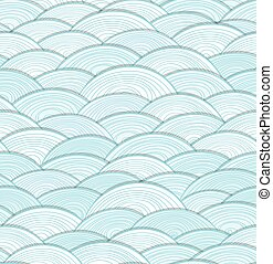 Abstract seamless pattern of white waves
